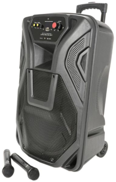 QTX 178.867UK Busker Portable PA with VHF Mics, Media Player & Bluetooth®  - New